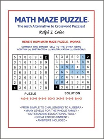 Math Maze Puzzle The Alternative To Crossword