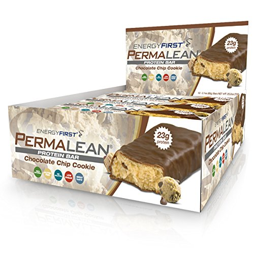 Permalean Chocolate Chip Cookie Whey Protein Bars | 100% Gluten Free Natural Protein Bar | Non-GMO | Low Sugar | Low Carb | High Whey Protein Bars – Pack of 12 by EnergyFirst Review