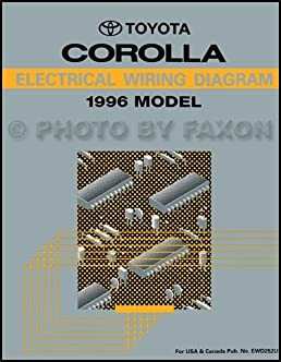 1996 toyota corolla electrical wiring diagrams service manual rh amazon com electrical wiring diagram toyota corolla 2010 corolla electrical wiring diagram