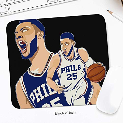 (8X9 (inch) Design Pattern Mouse Pad Sport Theme Style Basketball Mouse Mat Gaming Comfortable Rubber Base Rectangle Suitable for Computers Laptop Office Home Mousepad 20.3 X22.7 cm)