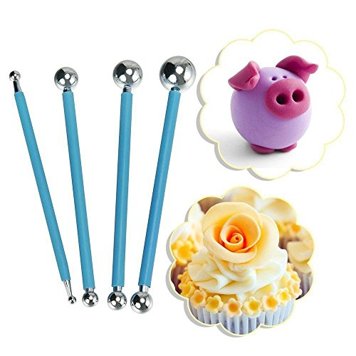 Spherical Stylus - COMIART 4PCS Set Ball Sphere Stylus Clay Pottery Ceramics Doll Sculpting Modeling Tools