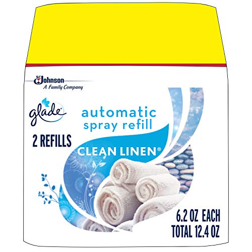 Glade Automatic Spray Air Freshener Refill, Clean Linen, 2 refills, 12.4 oz -