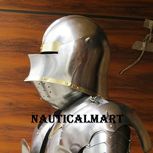 Medieval Knight Gothic Full Suit of Armor 15th Century Body Armour by NAUTICALMART (Image #5)