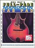 Full Page Mandolin Tab Pad, William Bay, 0786633980
