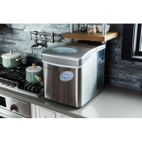 EdgeStar IP250SS Large Capacity Portable Countertop Stainless Steel Ice Maker by EdgeStar