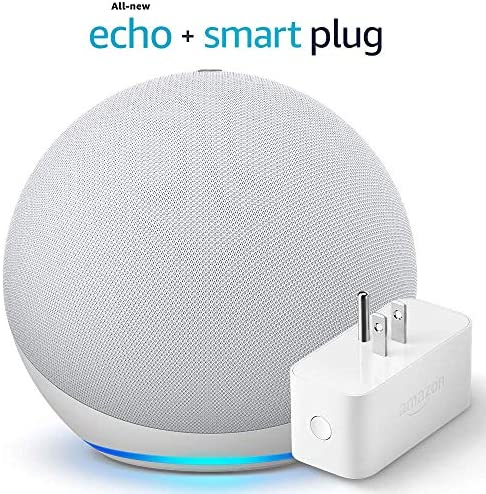 All-new Echo (4th Gen) - Glacier White - package with Amazon Smart Plug