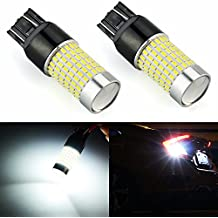 JDM ASTAR 1200 Lumens Extremely Bright 144-EX Chipsets 7440 7441 7443 7444 992 LED Bulbs with Projector For Backup Reverse Lights, Xenon White