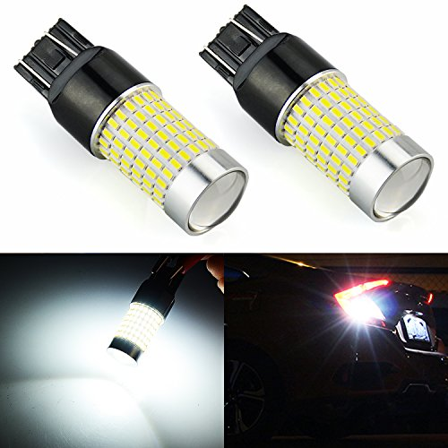 (JDM ASTAR 1200 Lumens Extremely Bright 144-EX Chipsets 7440 7441 7443 7444 992 LED Bulbs with Projector For Backup Reverse Lights, Xenon White)