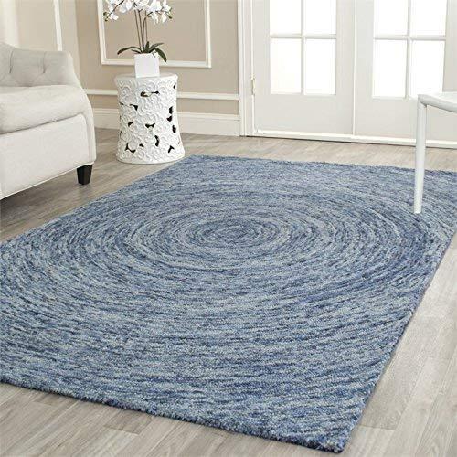 Safavieh Ikat Collection IKT633A Handmade Dark Blue and Multi Premium Wool Area Rug (8'9