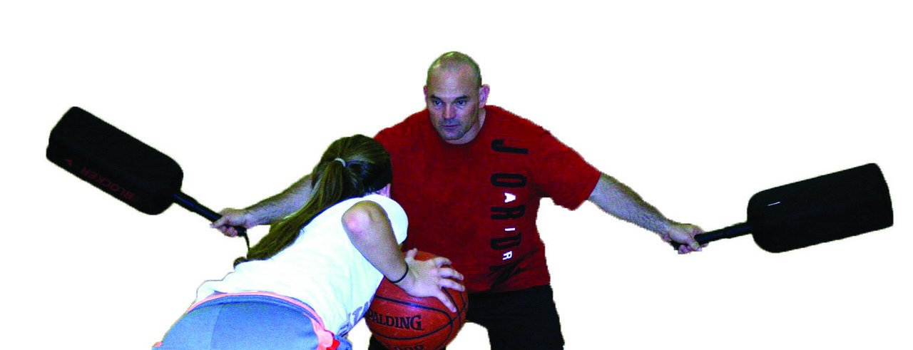 HoopsKing Defender Extender Basketball Training Pads - Volleyball Blocking Drills - Football Quarterback Pass Rush Distractor - Makes Players Learn to Handle Taller, Faster, More Athletic Opponents by HoopsKing