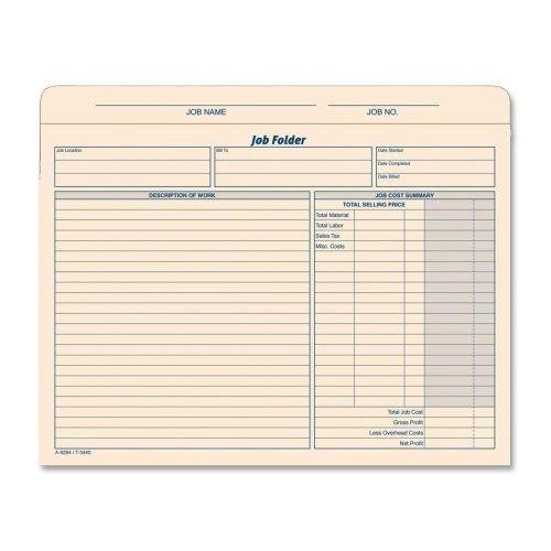 Manila Job Jackets (TOPS 3440 Job Folder Jacket Envelopes, Manila Tag, 20 EA per PK by)