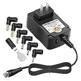 [5V USB Port] Powseed 24W Regulated Switching Multi Voltage 5V 6V 7.5V 9V 12V 13.5V 15V Charger Power Supply Adapter for Household Electronics LED Strips Router HUB HDMI SWITCHER Speaker Tablets