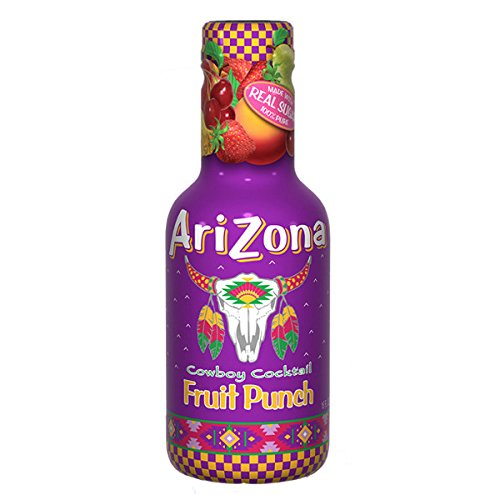 Arizona Tea Cocktail Beverage Drinks | Made with Real Sugar | 16.9 Ounce Plastic Bottles (Pack of 20) (Fruit Punch)
