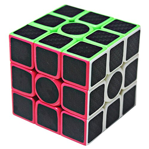 Carbon Match - Speed Cube 3x3x3 Carbon Fiber Stickers, Carbon Fiber 3x3, Smooth Magic Cube Puzzles