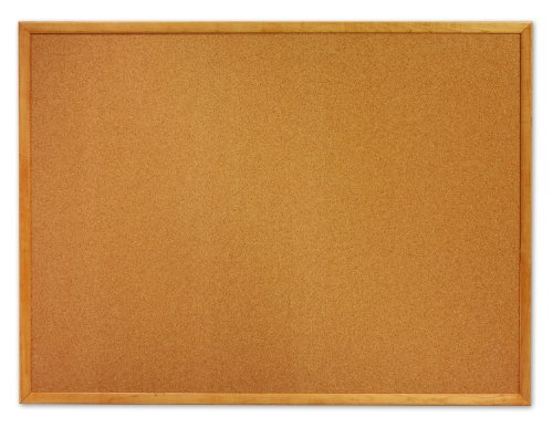 Quartet Cork Bulletin Board, 2 x 3 Feet, Oak Finish Frame (MWDB2436-ECR)