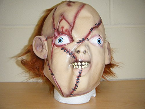 WRESTLING MASKS UK Chucky Zombie Horror Deluxe Halloween Full Head Fancy Dress Costum Mask -