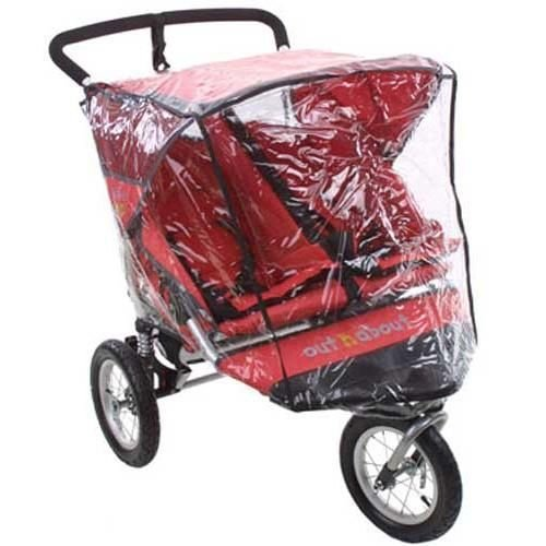 BABY REX® NEW RAINCOVER TO FIT OUT & ABOUT NIPPER TWIN 360 DOUBLE RAIN COVER Accrington Baby Centre Ltd