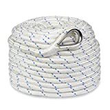 Norestar Braided Nylon Anchor/Mooring Rope, 300 feet by 1/2 inch, for Boat