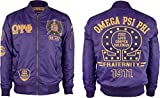 Omega Psi Phi Divine 9 Bomber Flight Mens Jacket [Purple - L]