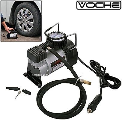 Voche® - Inflador de neumáticos de compresor de aire para coche, 12 V, portátil