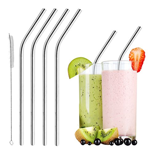 Smoothie Straws Stainless Eco friendly Dishwasher safe