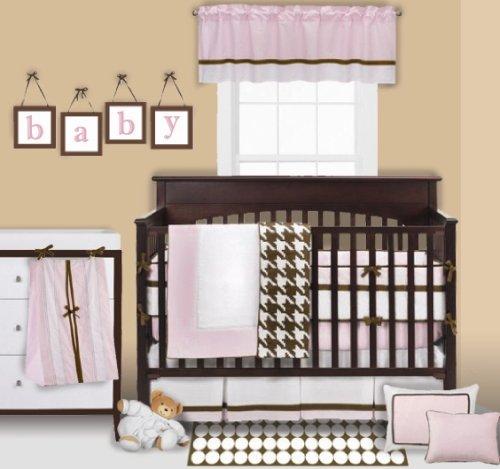 Bacati Metro Pink/Choc 4 pc Crib Set
