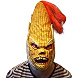 Supmaker Halloween Scary Mask Party Latex Angry Corn Head Mask Vegetables Halloween Costumes