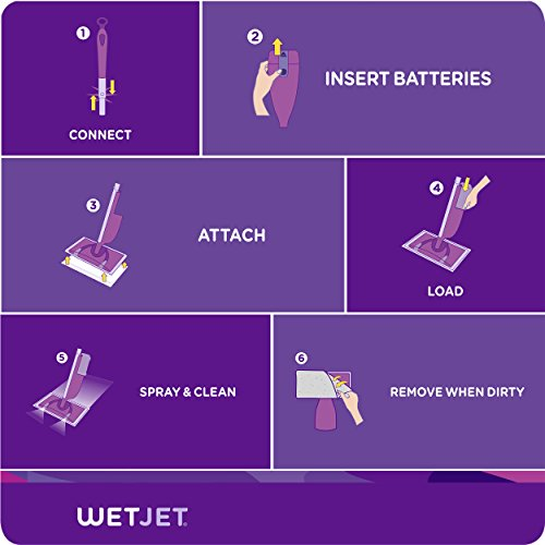 Swiffer WetJet Extra Power with Mr. Clean MagicEraser Hardwood Floor Cleaner, Spray Mop Pad Refill, 20 Count