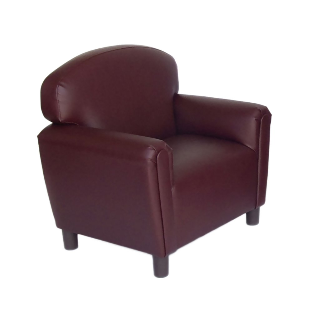 Port Burgundy Brand New World Preschool Premium Vinyl Upholstery Chair - bluee