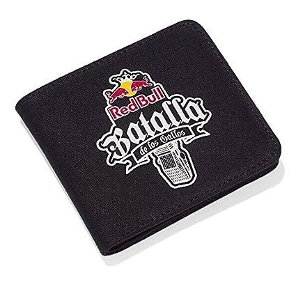 Red Bull Batalla Cartera, Negro Unisexo Monedero, Batalla de los Gallos Hip Hop Freestyle Original Ropa & Accesorios