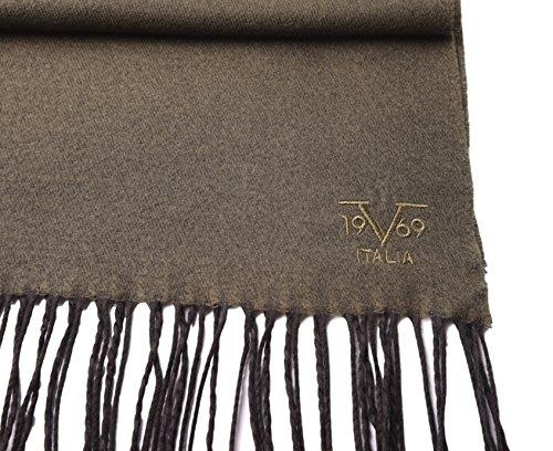 8d43b91f322 V1969 by Versace 19.69 Echarpe Homme Cachemire laine viscose chaude douce  avec sa pochette cadeau couleur Kaki  Amazon.fr  Vêtements et accessoires