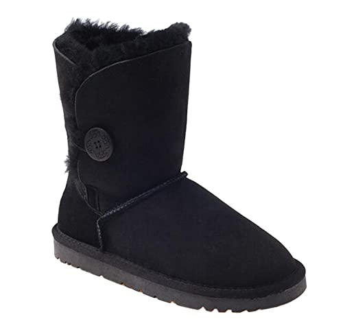 66f0a875692 OZwear UGG One Buckle of Mid-Tube Warm Couple Snow Boots: Amazon.co ...
