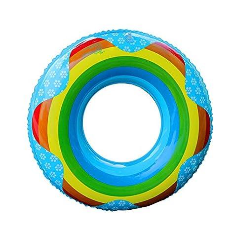 Lulalula - Anillo hinchable para natación, diseño de arco iris, para verano, piscina