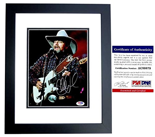 Charlie Daniels Signed - Autographed Country Music Singer 8x10 inch Photo with PSA/DNA Certificate of Authenticity (COA) BLACK CUSTOM FRAME