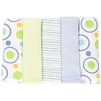 Spasilk Washcloths, Blue Circles, 10 Count