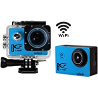 Waterproof Action Camera 12MP 1080P HD with 2 Batteries and Free Accessories Kit(Blue)