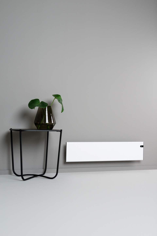 convector de pared, 1000 W, 200 mm, elegante y fino, bajo consumo, pantalla LED, control de temperatura de d/ía y de noche integrado Bendex LUX ECO Radiador el/éctrico