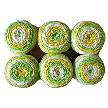 Sweet Roll Yarn, 5oz, 6-Pack (Melon Pop)