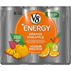 V8 +Energy, Juice Drink with Green Tea, Orange Pineapple, 8 oz. Can (4 packs of 6, Total of 24)