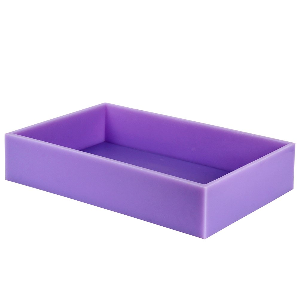 Big Size Silicone Soap Molds Flexible Rectangular Mould with Wooden Box