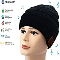 Color You Bluetooth Beanie Hat, Winter Knit Music Cap, Warm Thicken Fleece Lined Hat, USB Charging, for Teen Young Boys Girls Men Women