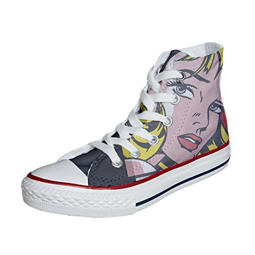 chaussures produit Customized artisanal girls coutume Blond Adulte Converse 7PUcWCC