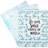 DaySpring Sadie Robertson's Fashion Folders, Let Your Smile Change the World, 3 Count (88504)