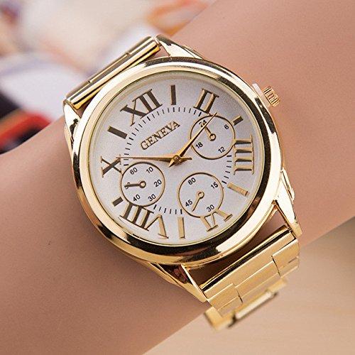Amazon.com: Ladies Watch Watches Women Quartz Reloj Mujer Geneva Rose Gold Clock Watches Montre Femme Saat Relogio 1: Jewelry