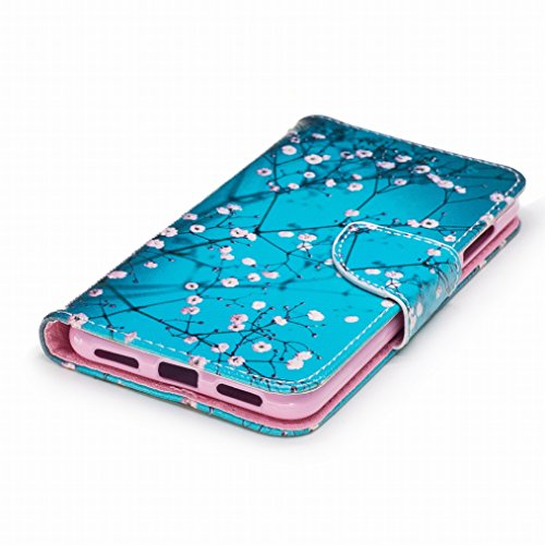 LEMORRY Huawei P8 Lite (2017) Custodia Pelle Cuoio Portafoglio Flip Borsa Sottile Bumper Protettivo Magnetico Chiusura Morbido Silicone TPU Cover Custodia per Huawei P8 Lite (2017) / Huawei Honor 8 Li