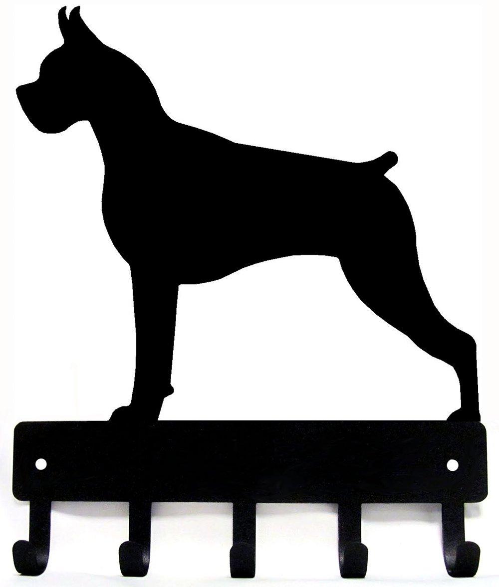 The Metal Peddler Boxer Key Rack Dog Leash Hanger Large 9 inch wide