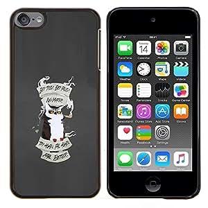 """Be-Star Único Patrón Plástico Duro Fundas Cover Cubre Hard Case Cover Para iPod Touch 6 ( Gracioso - Grumpy Angry Owl"""" )"""