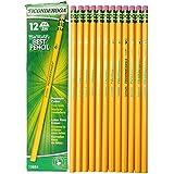 Dixon Ticonderoga Wood-Cased # 4 Extra Hard Pencils, Box of 12, Yellow (13884)