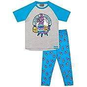 """51RWebNeWLL. SS177 Pijama para niños de Fortnite. Este épico conjunto de pijama de Battle Royale viene con un gran estampado de la llama púrpura del videojuego en el top, con el eslogan """"I'm Full Of Surprises"""". Parte superior: 93% Algodón 7% Poliéster Parte inferior: 100% Algodón"""