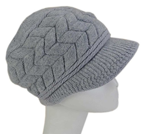 8fc5430a5f9d23 SYAYA Women Winter Visor DMZ01. Review - SYAYA Women Winter Warm Knit Hat  ...